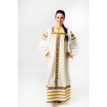 Сарафан «Маруся» серый для русских народных танцев