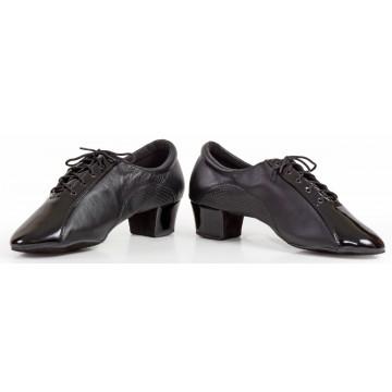 Мужские туфли для бальных танцев «DanceMaster 4520 кожа лак» латина 4см
