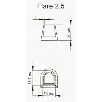 Накаблучники для танцевальной обуви (Flare 2,5)