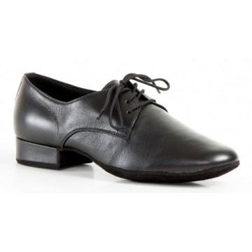 Мужские туфли для бальных танцев DanceMaster 21 стандарт кожа  каблук 2,5 см