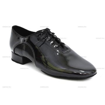 Мужские туфли для бальных танцев DanceMaster 250lak стандарт 2,5 см