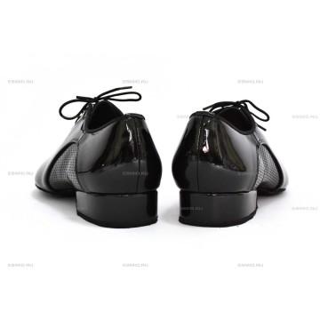 Мужские туфли для бальных танцев DanceMaster 250 lak стандарт 2,5 см