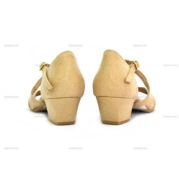 Рейтинговые туфли для бальных танцев DanceMaster 314К лазер №6 3 см