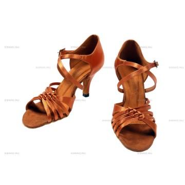 Женские туфли для бальных танцев DanceMaster 1711 латина 7 см