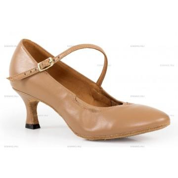 Женские туфли для бальных танцев «DanceMaster 011 (кожа)» стандарт 5см
