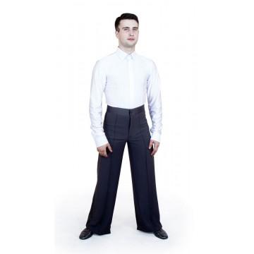 Рубашка-боди для бальных танцев «Соло плюс» «RP4650-O» с отстрочкой мужская