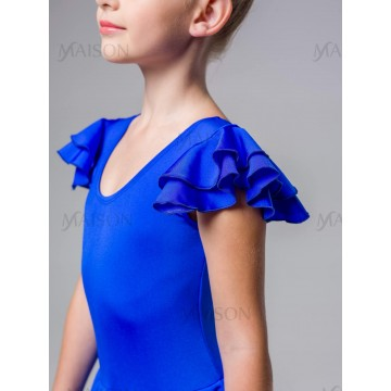 Платье репетиционное с крылышками Бифлекс для бальных танцев