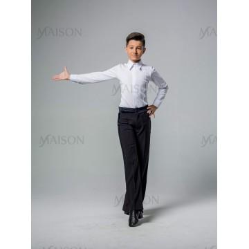 """Рубашка """"Латина"""" с защипами, с закрытой молнией для бальных танцев"""