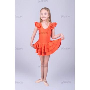 Платье репетиционное с крылышками ХБ для бальных танцев