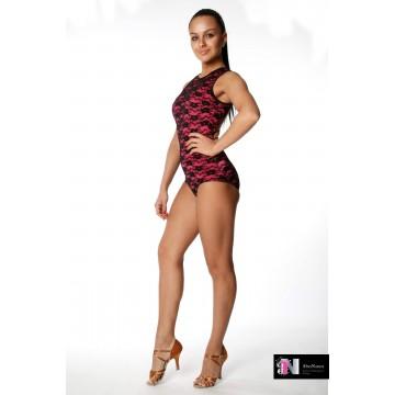 Женское боди для бальных танцев AltraNatura «Зеркало» гипюр