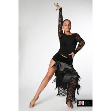 Женский топ для бальных танцев AltraNatura «Шнурок» гипюр