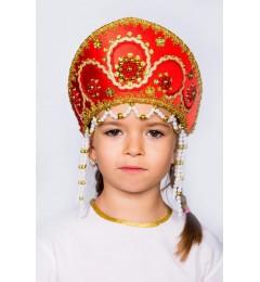 Кокошник «Алина» красный