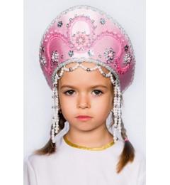 Кокошник «Алина» розовый