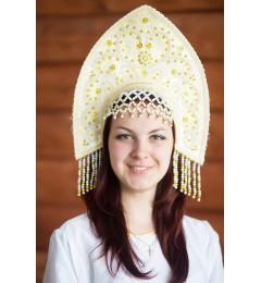 Кокошник «Анна» золотой