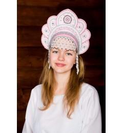 Кокошник «Елена» розовый