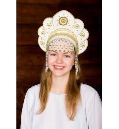 Кокошник «Елена» белый