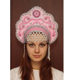 Кокошник «Лариса» розовый