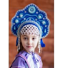 Кокошник «Лариса» синий