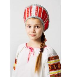 Кокошник «Марья» красный