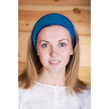Кокошник «Машенька» голубой для русских народных танцев