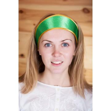 Кокошник «Машенька» зеленый для русских народных танцев