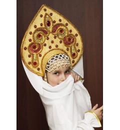 Кокошник «Надежда» золотая парча