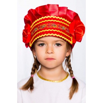 Кокошник «Настенька» красный для русских народных танцев