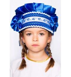 Кокошник «Настенька» синий