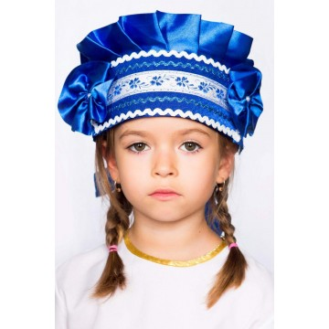 Кокошник «Настенька» синий для русских народных танцев