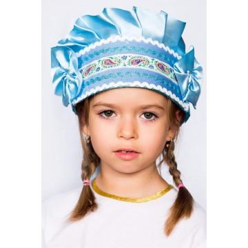 Кокошник «Настенька» голубой для русских народных танцев