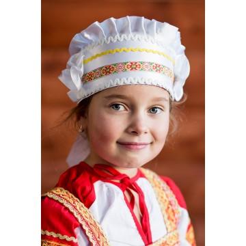 Кокошник «Настенька» белый для русских народных танцев