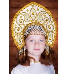 Кокошник «Татьяна» золотой