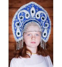 Кокошник «Ульяна» синий