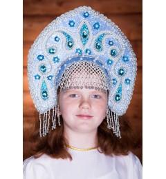 Кокошник «Ульяна» голубой
