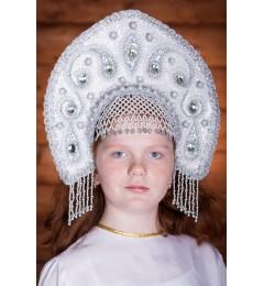 Кокошник «Ульяна» белый