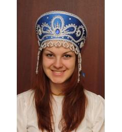Кокошник «Виктория» синий