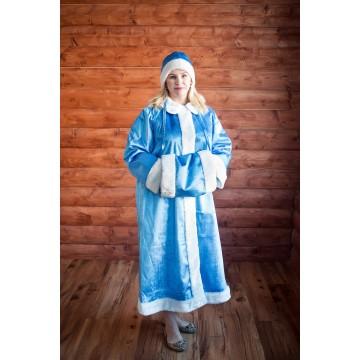 Костюм «Снегурочка» плюш для русских народных танцев