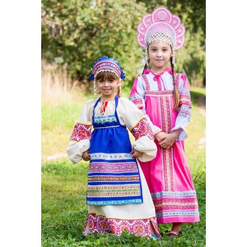 Фартук «Матрешка» для русских народных танцев