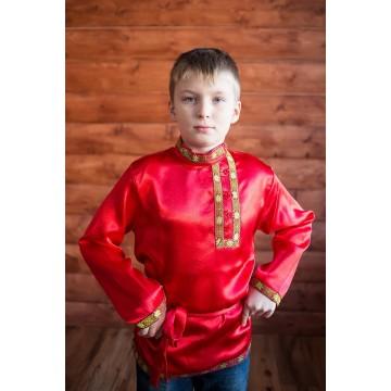 Косоворотка «Дмитряя» красная для русских народных танцев