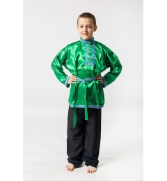 Косоворотка «Дмитрий» зеленая
