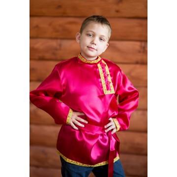 Косоворотка «Дмитряя» бордовая для русских народных танцев