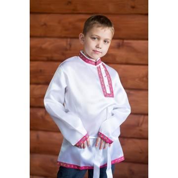 Косоворотка «Дмитрий» белая для русских народных танцев