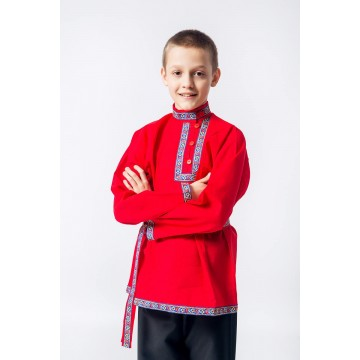 Косоворотка «Иван» красная для русских народных танцев