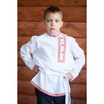 Косоворотка «Иван» белая для русских народных танцев