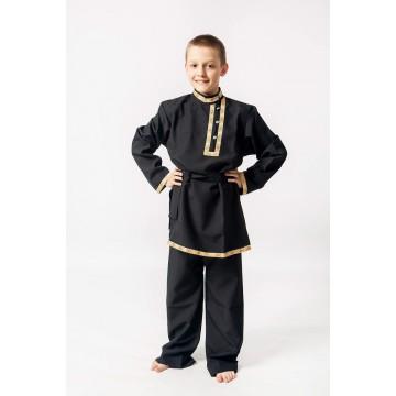 Косоворотка «Иван» черная для русских народных танцев