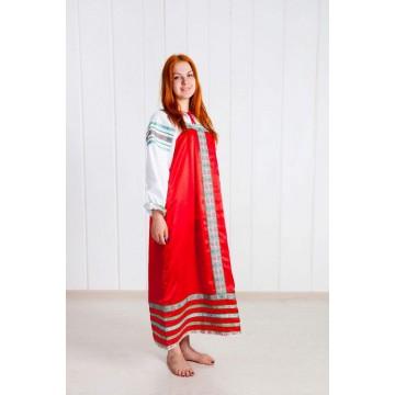 Сарафан «Алёнушка» красный для русских народных танцев