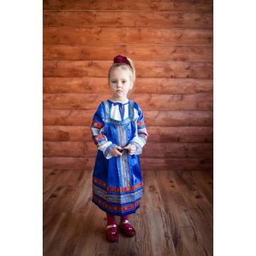 Сарафан «Алёнушка» синий для русских народных танцев