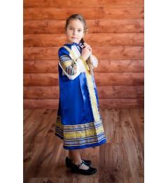 Сарафан «Алёнушка» синий
