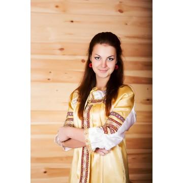 Сарафан «Алёнушка» золото для русских народных танцев