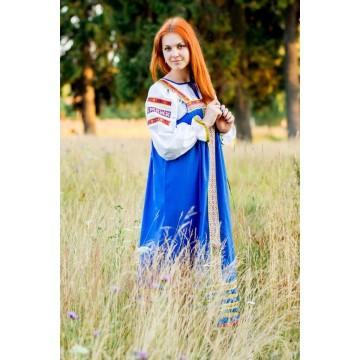 Сарафан «Дарья» синий для русских народных танцев